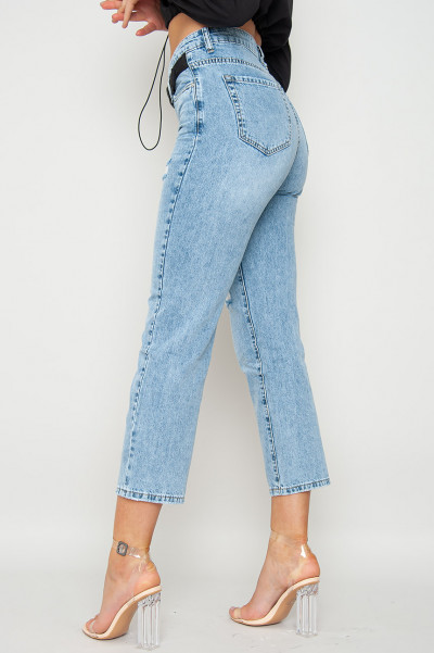 Queen Of Hearts Belted Mom Jeans