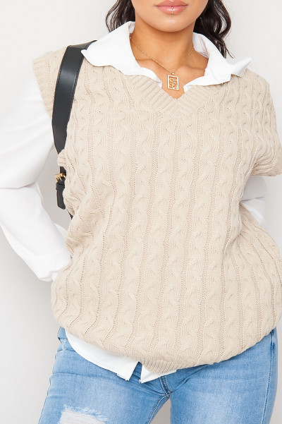 Fall For U Stone Knitted Vest