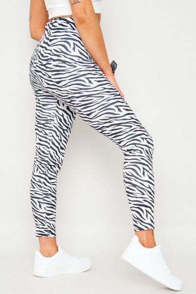 Can't Be Tamed Zebra Pants