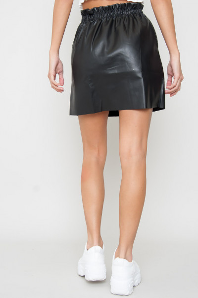 Faux Leather Skirt - Rillie
