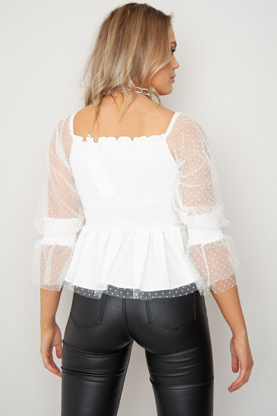 U And Ur Sweet Love Off Shoulder Top White