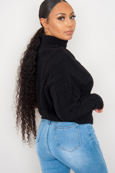 All Of Them Knitted Jumper Black