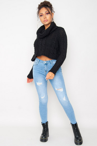 Somebody Else Knitted Jumper Black