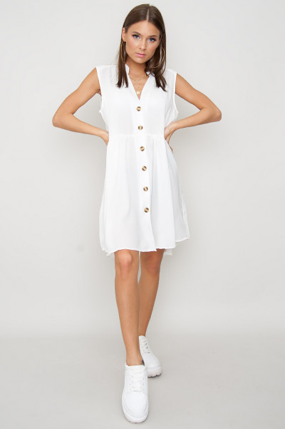 Loose Fit Shirt Dress - Losy Vit