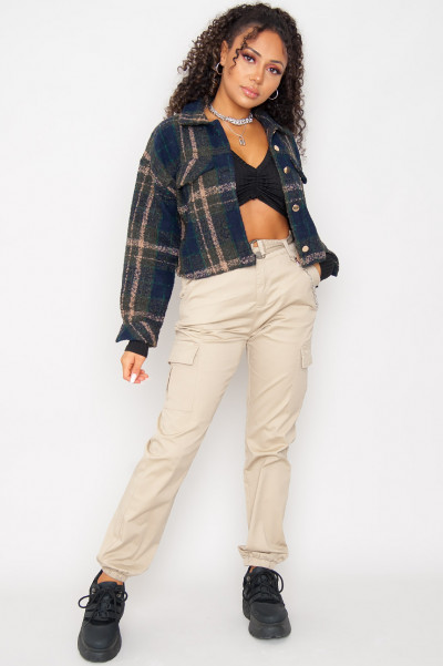 Call On Me Flannel Shirt Jacket