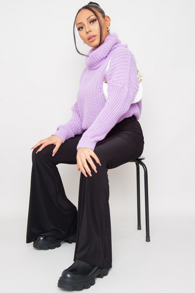 Be In Style Knitted Jumper Purple