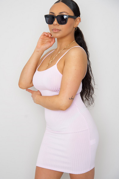 Baddest Cheeky Mini Dress Pink