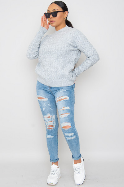 Knitted Jumper - Adine Grey