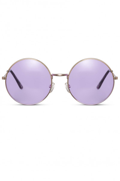 I See Party Round Sunglasses Purple