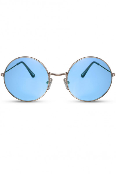 I See Ocean Round Sunglasses Blue