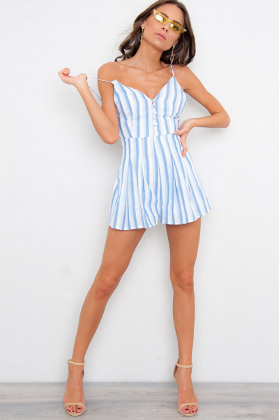 Strappy Sailor Playsuit - Athena