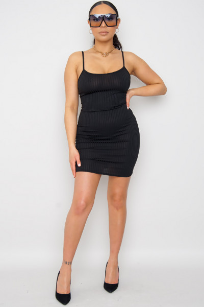 Baddest Cheeky Mini Dress Black