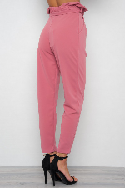 Ash Pink High Waisted Byxor - Polly