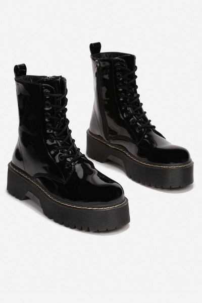 Crush Me Wet Look Boots