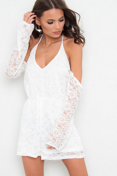 White Lace Playsuit - Maya