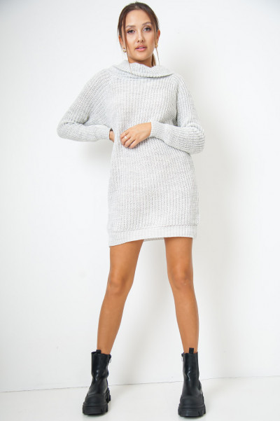 My Way Out Grey Knitted Dress
