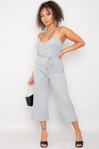 Sweet Summer Jumpsuit Grey