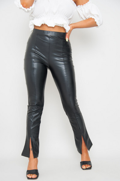 What If Faux Leather Pants Black