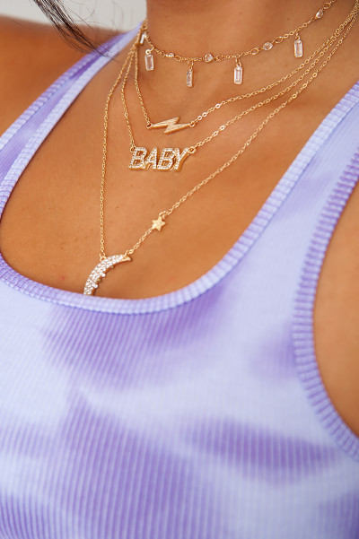 Moonlight Baby Gold Necklace