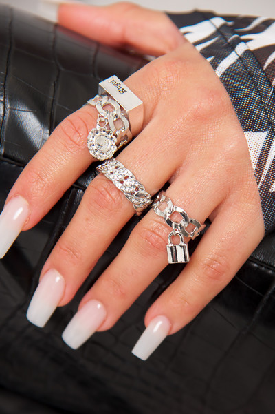 Angels Cry Diamonds Silver Rings