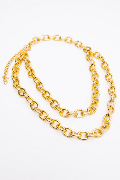 Multi Layer Choker Necklace - Golden Chains