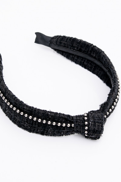 Knotted Black Headband