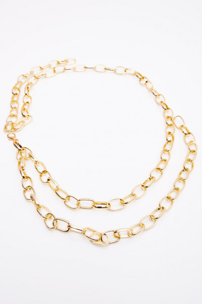 Multi Layer Chain Belt - Luella Gold