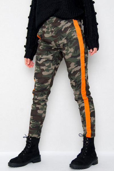 Camo Orange Stripe Byxor
