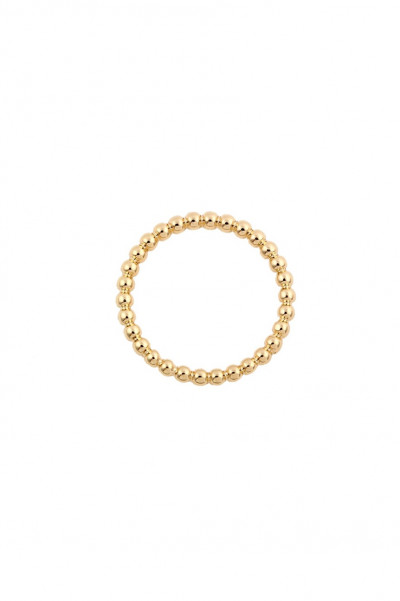 Ring - Beaded Gold