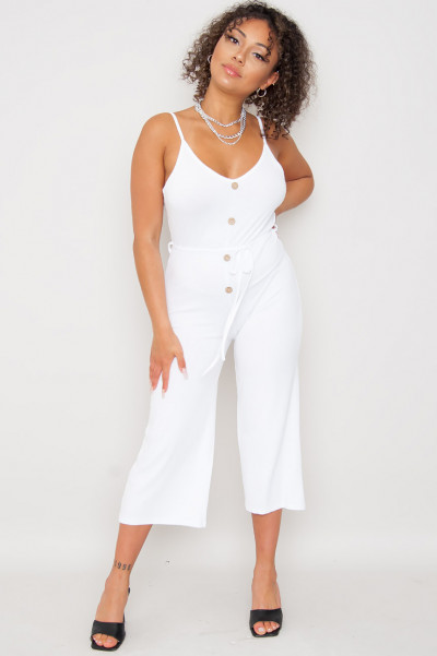 Sweet Summer Jumpsuit White