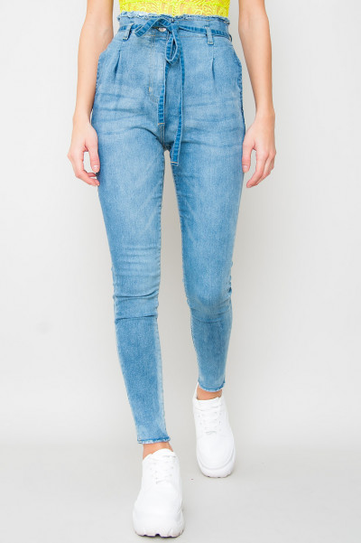 High Waist Paperbag Jeans - Need Me