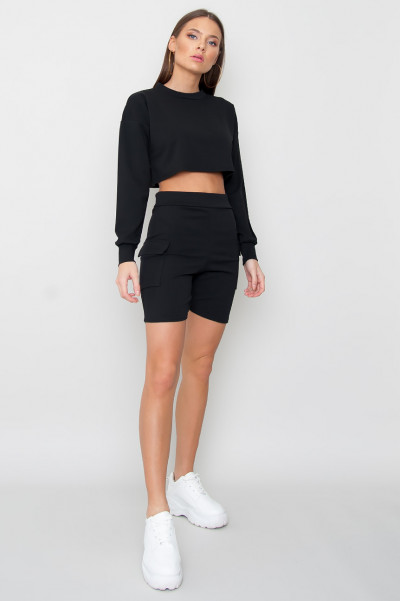 Cargo Jogger Set - GURL Black