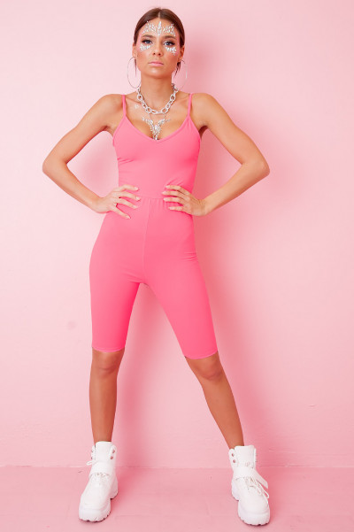 Cycling Playsuit -  Della NeonPink