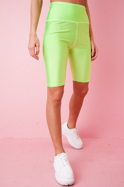 Neon Green Cycling Shorts - Chaya