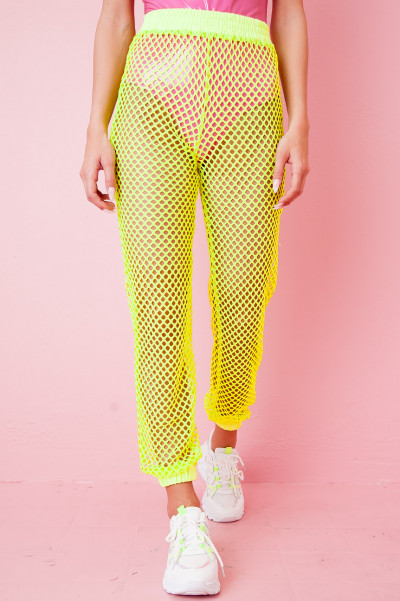 Fishnet Pants - July Grön