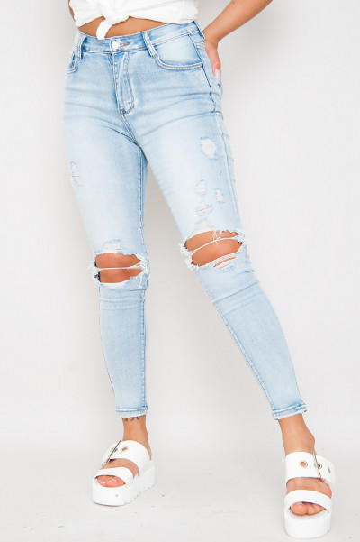 High Waisted Tight Jeans - Soler
