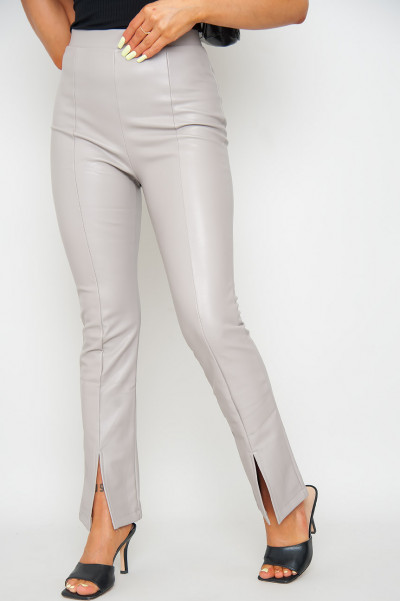 What If Faux Leather Pants Taupe