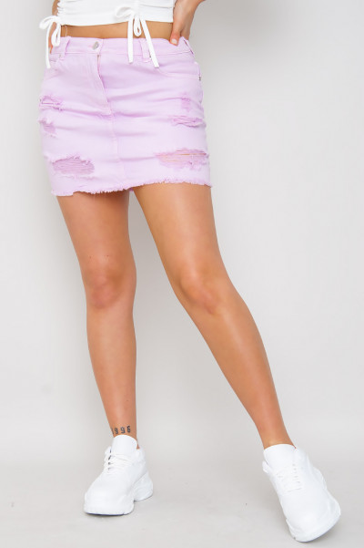 Catch A Ride Denim Skirt Lavendel
