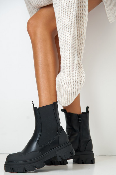 Keeping Standards High Chunky Boots