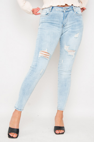 High Waist Ripped Jeans - Kat