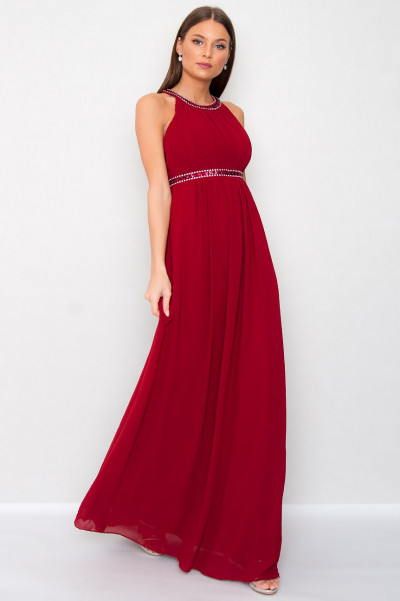 Chiffon Dress - Carquelin Red