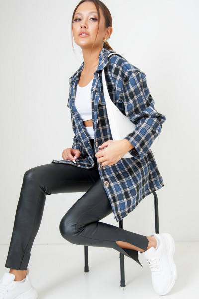 Step It Up Blue Flannel Overshirt