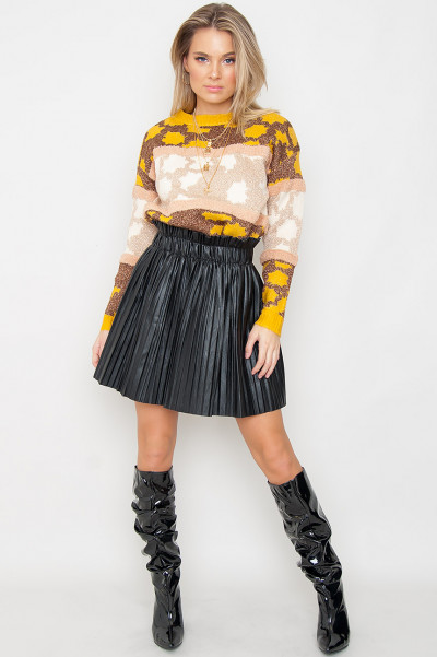 Knitted Glitter Jumper - Indira Yellow