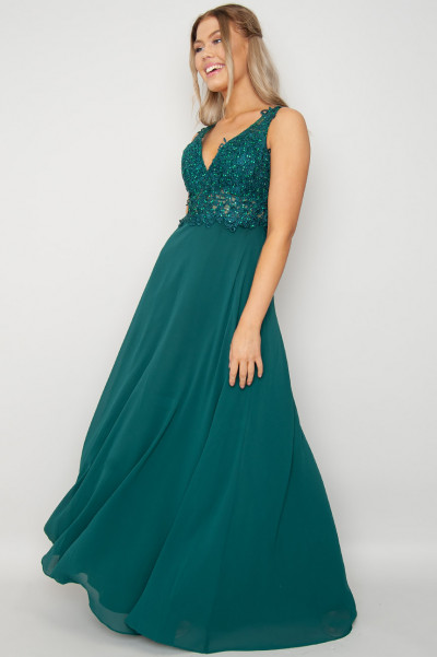 Enchanted Forest Evening Dress Green