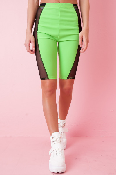 Mesh Cykelbyxor - Kit Green