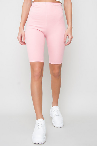 High Waisted Cycling Shorts - Ember Pink
