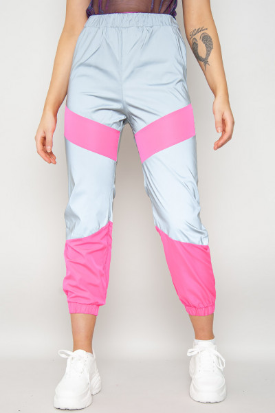 Turn It Up Reflective Pants Pink