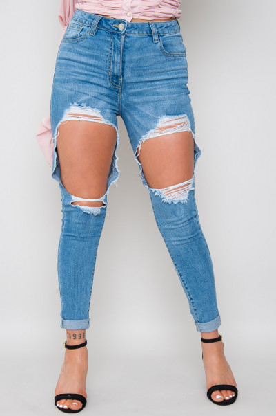 Can You Handle It Ripped Skinny Jeans