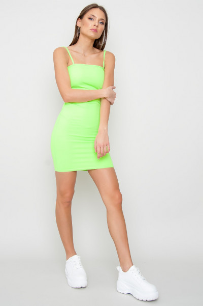 Strappy Bodycon Dress - Ace Green