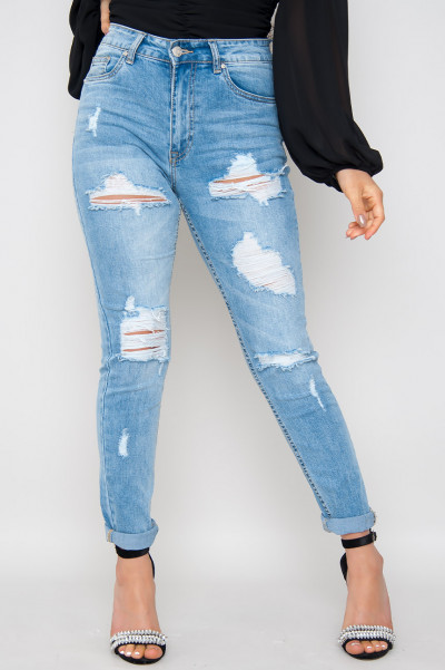 Take No For An Answer Ripped Slim Jeans